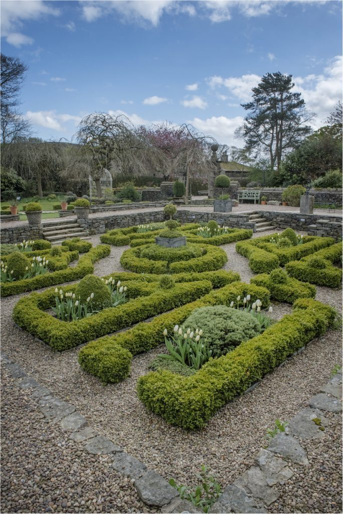Holdsworth House hotel in West Yorkshire Parterre garden and grounds
