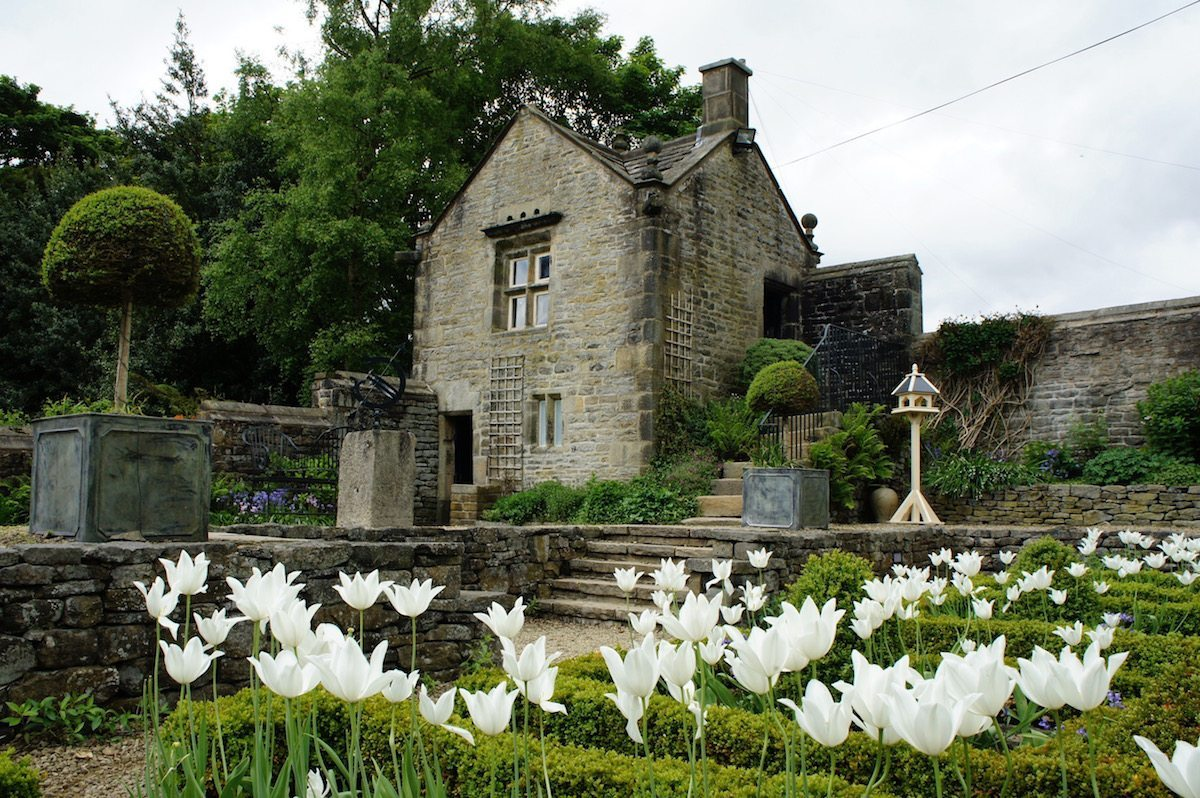Spring wedding at Holdsworth House hotel in West Yorkshire gazebo and garden