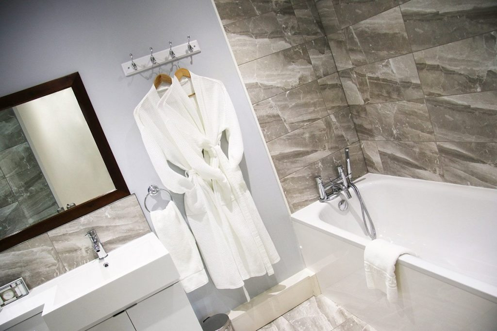 Xposure Photography En suite hotel bathroom at Holdsworth House Hotel, Halifax
