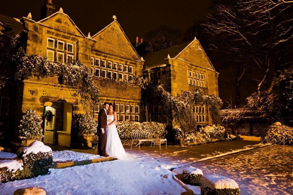winter wedding Holdsworth House wedding venue