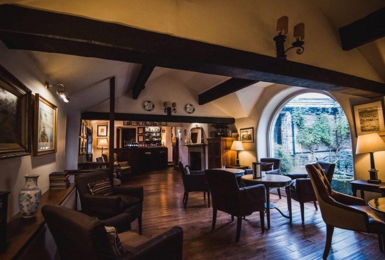 Bar lounge at Holdsworth House Hotel