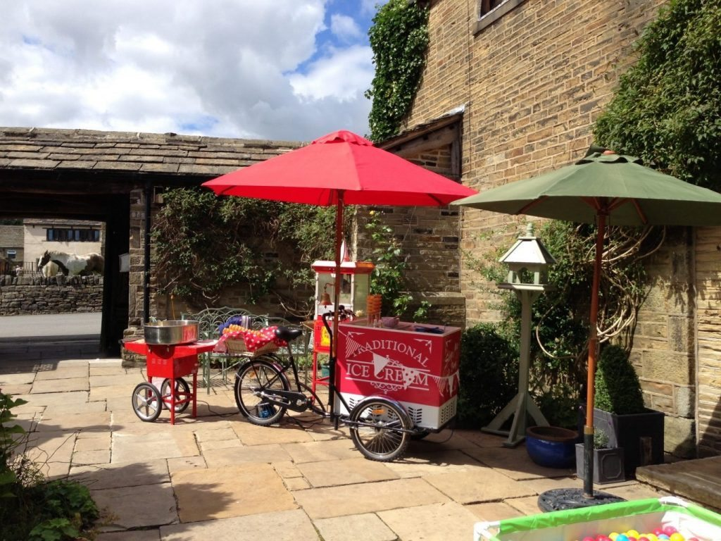Wedding ice cream cart Yorkshire Holdsworth House