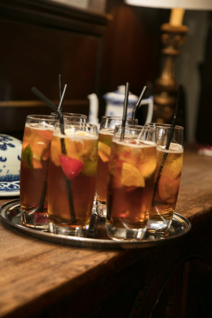 Wedding drinks Pimms