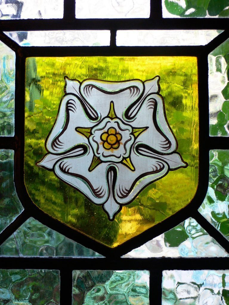 Yorkshire rose stained glass window