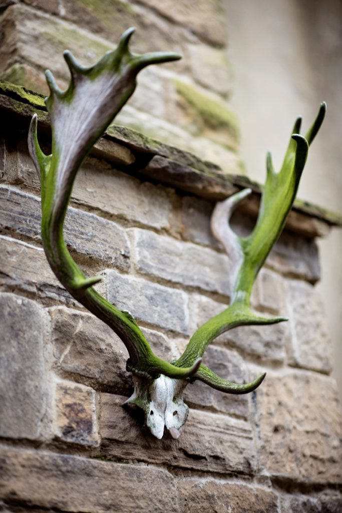 antlers outdoor fireplace holdsworth house hotel yorkshire