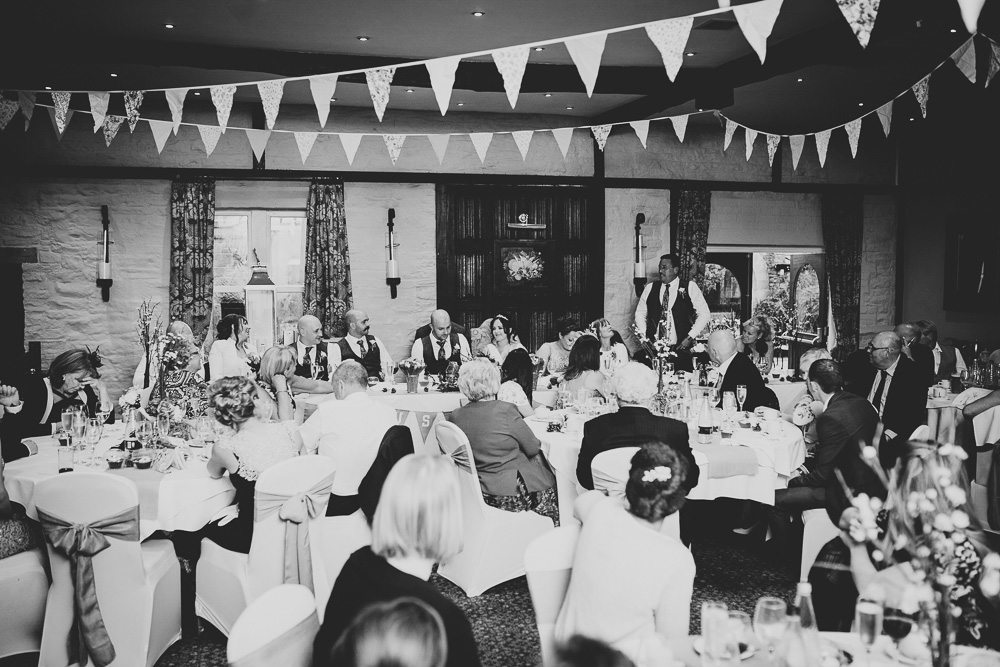 large wedding reception at Holdsworth House