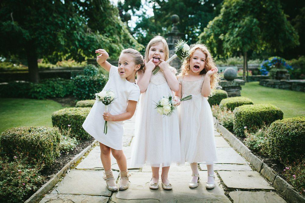 Cheeky bridesmaids at Holdsworth House