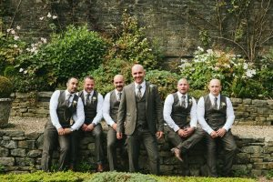 Groomsmen gardens Holdsworth House Tim Dunk Photography