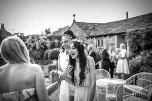 Tim Dunk Photography Bridesmaids in the garden of Holdsworth House