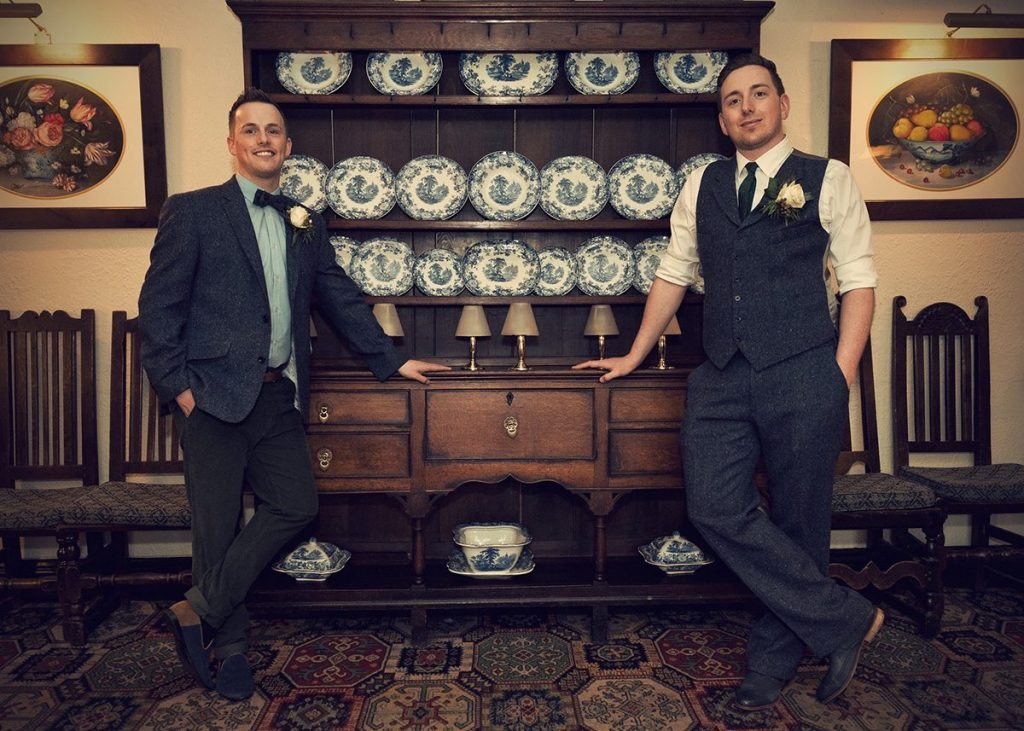 Same sex wedding at Holdsworth House Alex Knight Photography