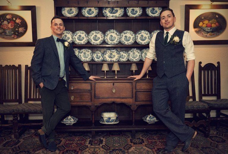 Same sex wedding at Holdsworth House Alex Knight Photography