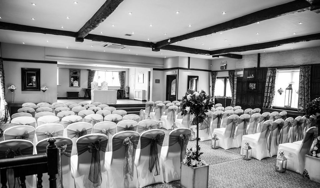 Large civil ceremony wedding venue Maroon Blu Photography
