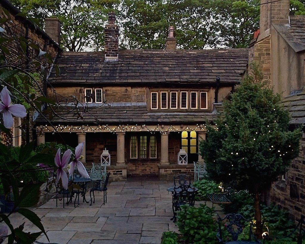 Courtyard at Holdsworth House hotel Yorkshire