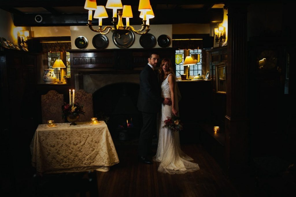 Tim Dunk Photography winter wedding in the Hall at Holdsworth House