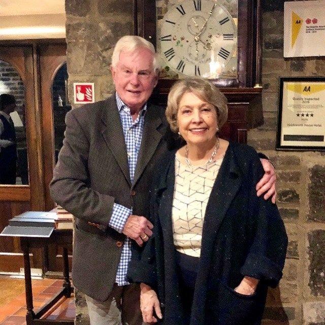 Sir Derek Jacobi and Anne Reid at Holdsworth House