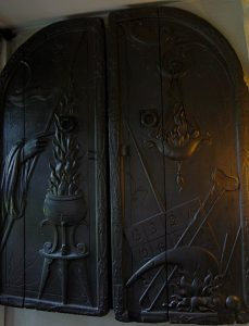 Witches' cupboard with masonic walnut doors