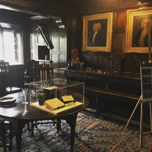 The dining room at Shibden Hall
