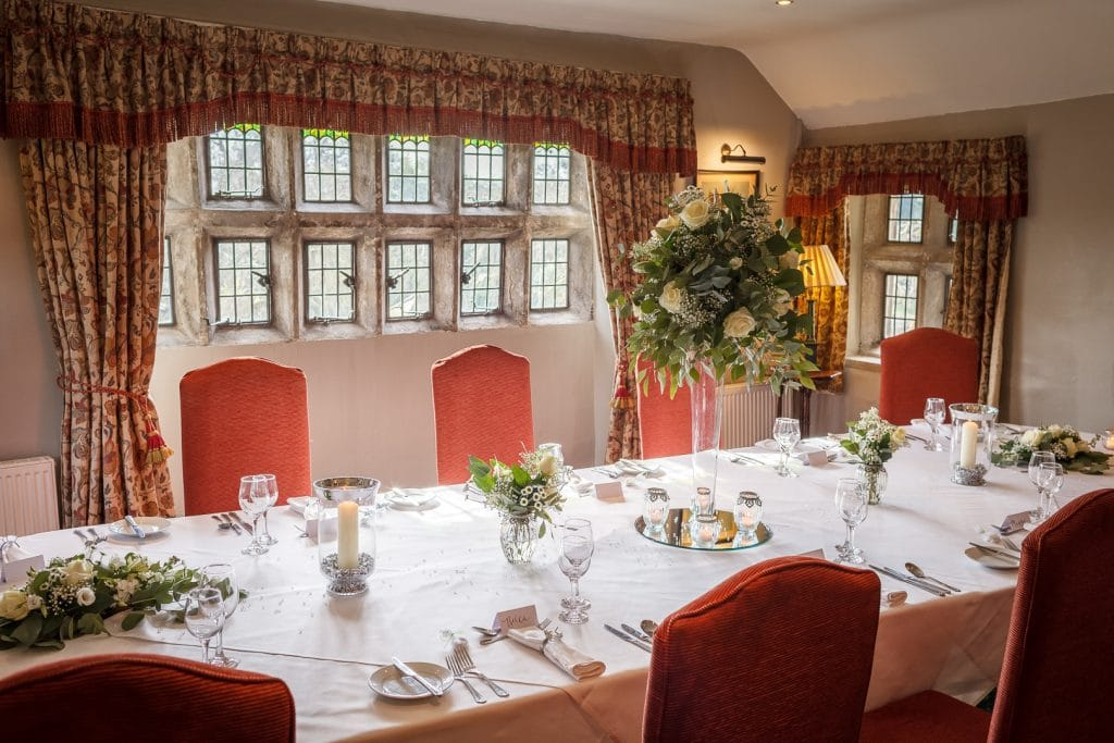 The De Aldworth Room for a small wedding reception