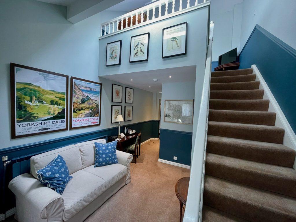 Split-level Suite lounge