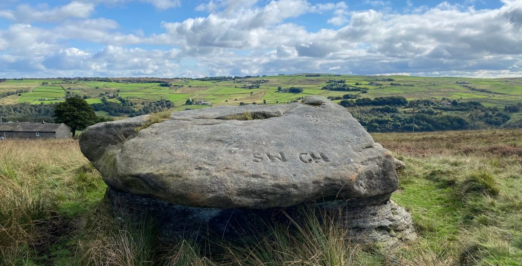 Lumb Stone, Erringdon Moor, near coiner David Hartley's Bell House