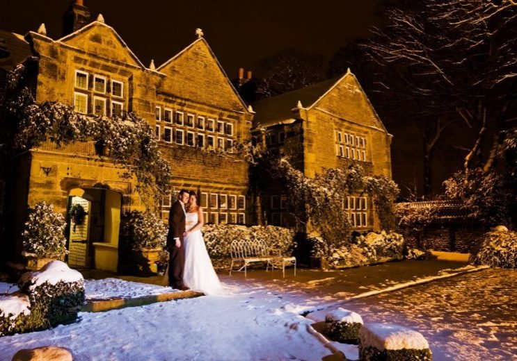 winter wedding Holdsworth House wedding venue