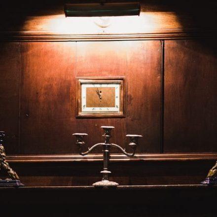 Holdsworth House hotel West Yokrshire wall clock