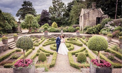 Richard Perry Photography Summer wedding gardens at Holdsworth House