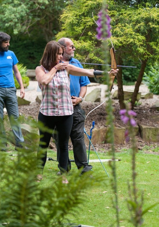 archery team building West Yorkshire Holdsworth House