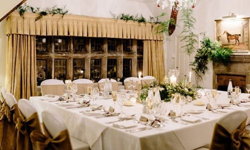 Small wedding reception at Holdsworth House, West Yorkshire